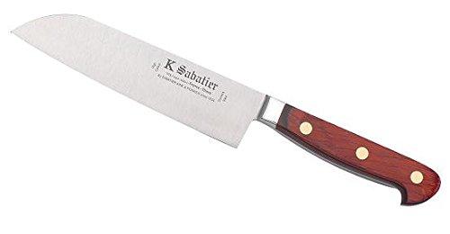 K Sabatier - Cuisine Orientale 17 Cm K Sabatier - Gamme Auvergne - Acier Inoxydable - Manche Bois - 100% Forge - Entièrement Fabrique En France