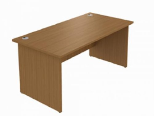 Straight Beech Office Panel Ended Desk