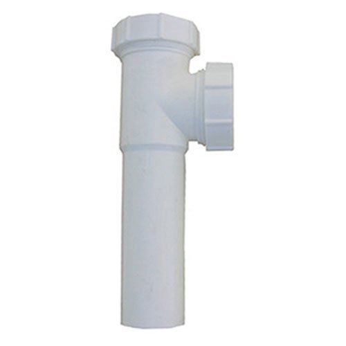 LASCO 03-4281 White Plastic Tubular 1-1/2-Inch Slip Joint Baffle Tee withTailpiece Nuts and Washers by LASCO -