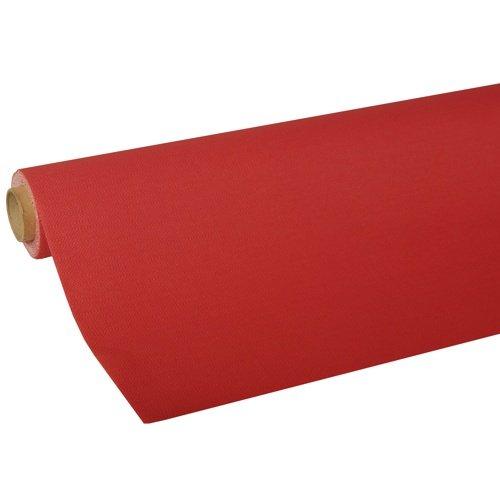 "Papstar 82034 Tischdecke, Tissue ""ROYAL Collection"" 5 m x 1,18 m, rot"