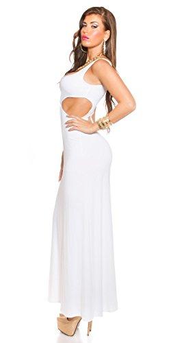 Longdress Goddess Look mit CutOuts Weiß