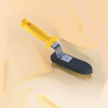 Spazzola ottone per pulizia griglie e piastre