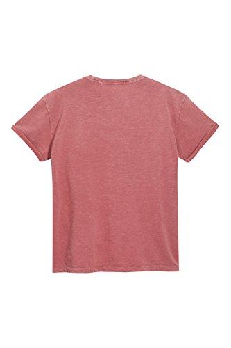 next Herren T-Shirt in Acid-Waschung Regular Rot