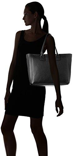 Furla Damen Capriccio L Tote Shopper, 43x30x16 cm Schwarz (Onyx)