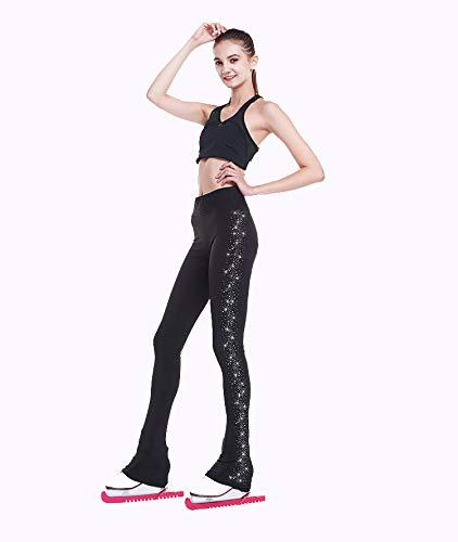 sen, Stretchy Training Lange Hosen Mit Kristallen Für Mädchen, Frauen Und Kinder,XXXL ()