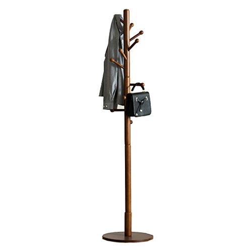 YONG FEI Solide Bois Manteau Rack étage Cintre Chambre vêtements Rack Simple unipolaire Salon Couloir Creative Hanger Meubles (Couleur : Brown)