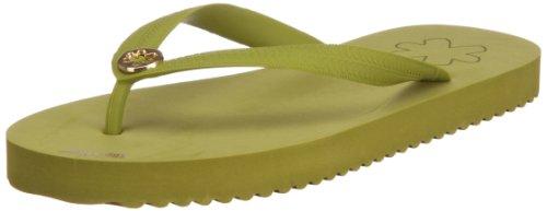 Flip Flop Flor De Ouro 30280 Senhoras Toe Trenner Verde (palm 349)