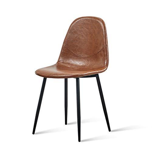 Esstische Eiffel Style PU Synthetic Leder gepolsterte Sitze und Metall-Leine für Office Living Room Kitchen Lounging,Brown