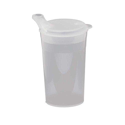 Behrend Trinkbecher, Schnabeltasse, Schnabelbecher, kurzes Mundstück, Brei, transparent