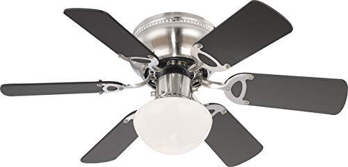 Deckenventilator mit Beleuchtung und Zugschalter Ventilator Globo UGO 0307 / 034007 - Licht Helles Deckenventilator