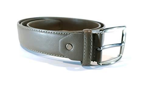 Cinturón con cremallera interior Cinturon con bolsillo oculto secreto para hombre Cuero/Piel sintetico (Gris, 135cm)