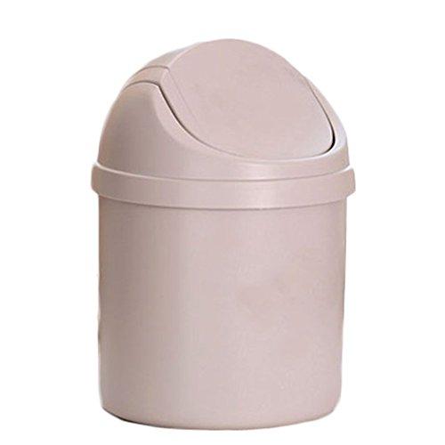 Fablcrew Mini-Mülleimer, kreativer Schreibtisch-Abfalleimer, Aufbewahrungsbox für Zuhause, plastik, beige, 19.5CM*14CM
