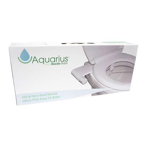 Acuario His & Hers Doble Boquilla Retro Easy Fit Bidé Bidé Se adapta a cualquier WC