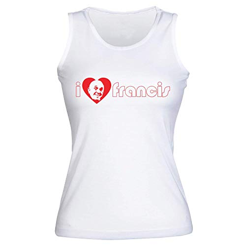 Cardinals Womens Tank Top Weiß (idcommerce I Love Heart Francis Pope Damen Tank Top Extra Large)