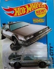 HOT WHEELS 2015 RELEASE BACK TO THE FUTURE TIME MACHINE HOVER MODE DIE-CAST by Hot Wheels (Back To The Future Time Machine)