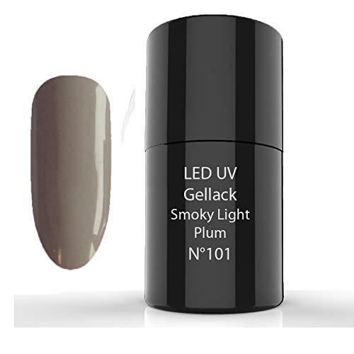 LED-UV Gellack,UV Nagellack, UV Lack,101 Smoky Light Plum -