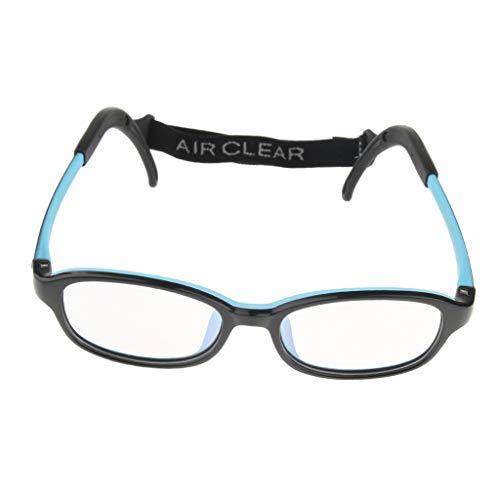 IPOTCH Kinder Brillen Rahmen Brillengestell - Schwarz Blau, wie beschrieben