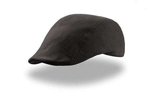 SWI-3xy schwarz Gatsby Schiebermütze Schirmmütze Flatcap Schirmmütze Schirmcap Cap Kappe Mütze Golfmütze Cappy Herrencap Damencap Herrenmütze Damenmütze Schiebermützen Schirmmütze