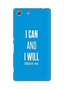 AMEZ i can and i will watch me Back Cover For Sony Xperia M5