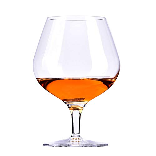 Brandy Whisky Wine Glasses Crystal Bleifrei FENGMING (Farbe : Klar, größe : Brandy-395ml) Clear Crystal Brandy