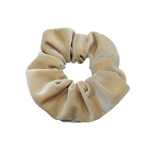 Haargummis, Samt, elastisch, 12 Stück elastische Samthaarbänder Hairbands braun, grau, blau,...
