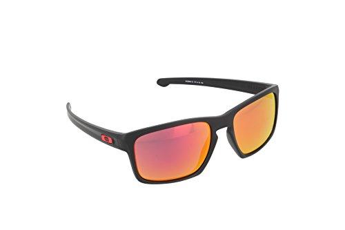 Oakley Herren Sonnenbrille  Sliver,Schwarz (Matte Black-OO9262-12), 57