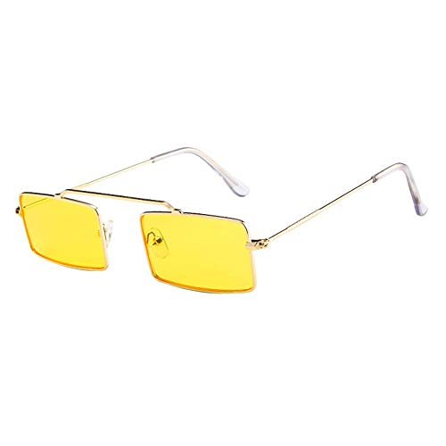 Honestyi Frauen Männer Vintage Retro Kleine Rahmen Brillen Unisex Sonnenbrillen Eyewear 195 mit kleinen