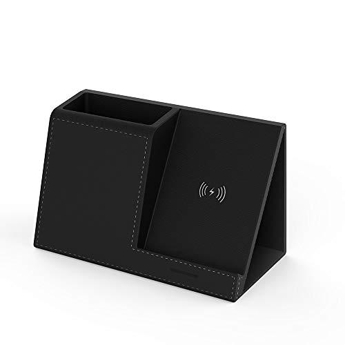 ADDANY 10W Fast Wireless Charger Induktive ladestation Desktop-Stifthalter mit Organizer Qi ladegerät für iPhone XS/XR/X/8 Plus Samsung S8/S8+/S9/S9+/S7/S7 Edge/Note 8 und Anderen Qi-fähigen Geräte