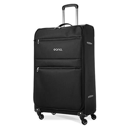 Eono Amazon Marke: EONO Essentials Large 81cm Ultra leichter Reisetrolley Gepäck Koffer mit 4 Rädern, Schwarz