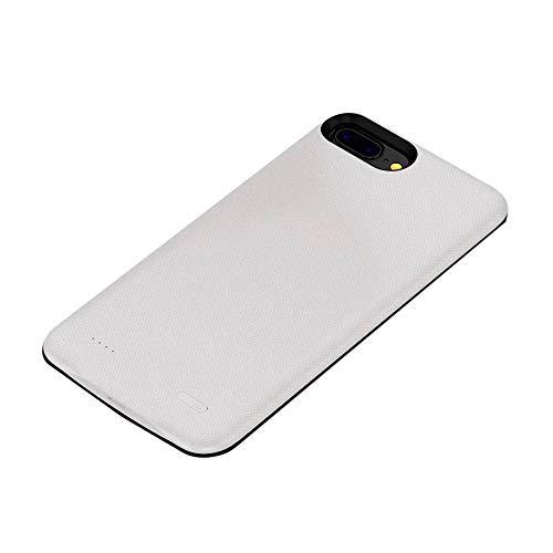 Womdee batteria custodia per iphone 6/6s/7/8, portatile 4000mah batteria ricaricabile di protezione, batteria con caricabatterie custodia per iphone 6/6s/7/8(11,9cm), blu bianco