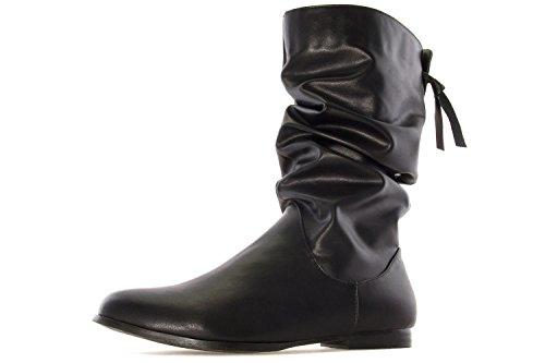Andres Machado Stiefel in Übergrößen Schwarz AM4081 Soft Negro große Damenschuhe, Größe:43