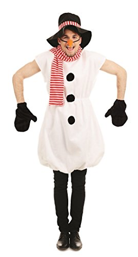 Mens ICY Snowman Xmas Christmas Festive Film Fancy Dress Costume Outfit M-XL - Olaf Der Schneemann Kostüm