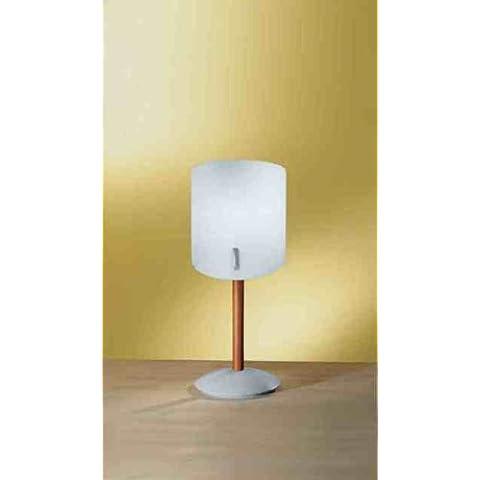 LINEA LIGHT Lampada Lume finitura ciliegio vetro bianco