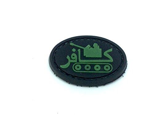 Patch Nation Mini Panzer PVC Airsoft Paintball Klett Emblem Abzeichen (Leuchten im Dunkeln)