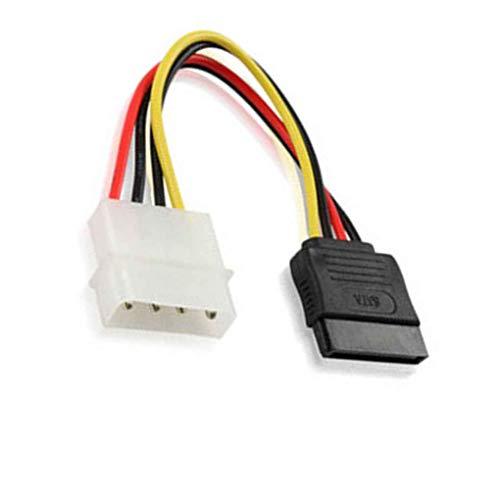 Zerama SATA IDE-Energien-Adapter-Kabel Kupferkern D Typ 4 Pin Serial Port Optische Festplatte Netzkabel -