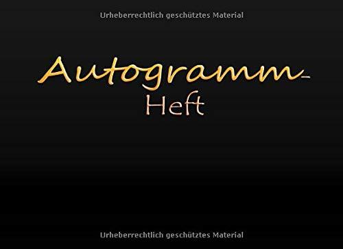 Autogramm Heft: Erinnerungsbuch, Unterschrift Prominente | Andenken Album Geschenk, Blanko unliniertes Erinnerungs-Sammelbuch zum Einkleben | Für ... Schauspieler, Sänger und viele mehr ...