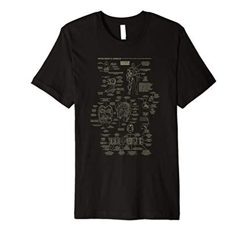 Marvel Iron Man Stark Industries Armor Details T-Shirt (Iron Man Damen Shirt)