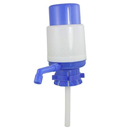 Azionare a mano Forma cilindro di plastica Acqua potabile Pompa Blu Bianco