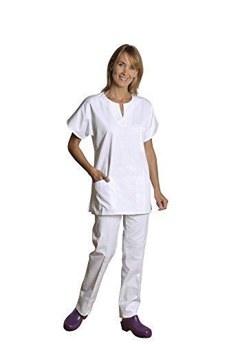 Holtex wege07_ 95Marinière Damen Kleidung ägäis, Twill, Kragen in Tropfen, Größe 5, Weiß