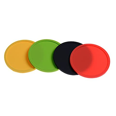 JETTINGBUY 8PCS Drink Silicone Coasters - Easy to Clean &