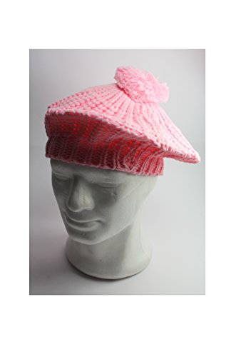 Beret Basque Basque Bonnet Femme Bonnet Casquette Bonnet pour femme French Style Femmes - V16-BRT006-rosa