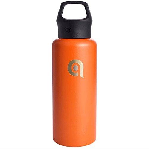 ZHAOJING Langlebige Isolierungs-Schalen-Edelstahl-Vakuum-Außensport-Handschalen-Damen-Paar-Schalen ( Farbe : Orange )
