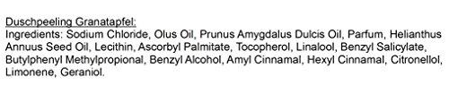 Körperpeeling Salz Granatapfel Body Scrub mit Mandelöl, 320 g