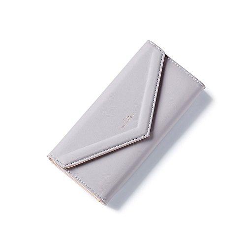 PU Piega Lunga Pelle moda donna Portafoglio borsa Ecopelle Wallet