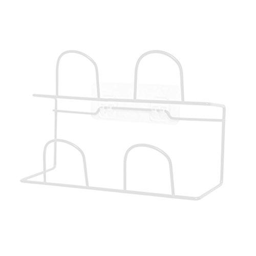 Hängenden Schuh Regal (VORCOOL Doppelschicht-Schuh-Gestell-Pantoffel-hängendes Regal an der Wand Befestigt mit Selbstklebendem Haken-Schuh-Speicher-Organisator-Halter, weiß, 1Piece)