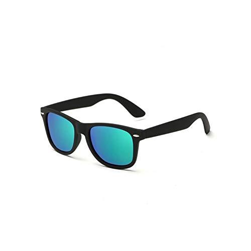 Sport-Sonnenbrillen, Vintage Sonnenbrillen, NEW HD Polarisiert Sunglasses Men Women Vintage BRAND DESIGN Square Frame Driving Eyewear For Male Rays Sun Glasses Goggle UV400 black F green