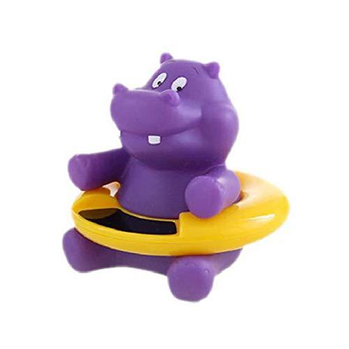 Lustige Baby-Thermometer-Baby-Bad Schwimmdock Spielzeug Badewanne Thermometer Wassertemperatur Tester Toy Thermometer für Baby-Baden (Purple Hippo)