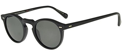 Oliver Peoples - GREGORY PECK SUN OV 5217/S, Rund, [nd], Herrenbrillen, MATTE BLACK/MIDNIGHT EXPRESS POLARIZED VFX(1031/P2), 47/23/150