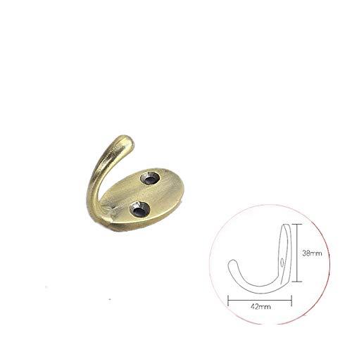 Heavy Duty Wall Mounted, Single Retro Coat Hook Wall Shoe Hook Free Punching Hook Bronze/5 Pack Single Hook -