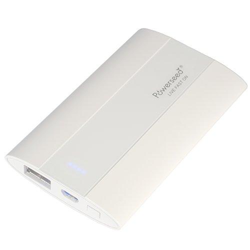 Powerseed® Pocket, 2.700 mAh. Carica Batteria Esterno. Ricarica un iPhone 5S per 1,5 volte, un iPhone 6 per una volta completa e il Samsung Galaxy S6 all'75%. Compatibile con tutti i dispositivi con porta ricarica USB. Colore: Bianco